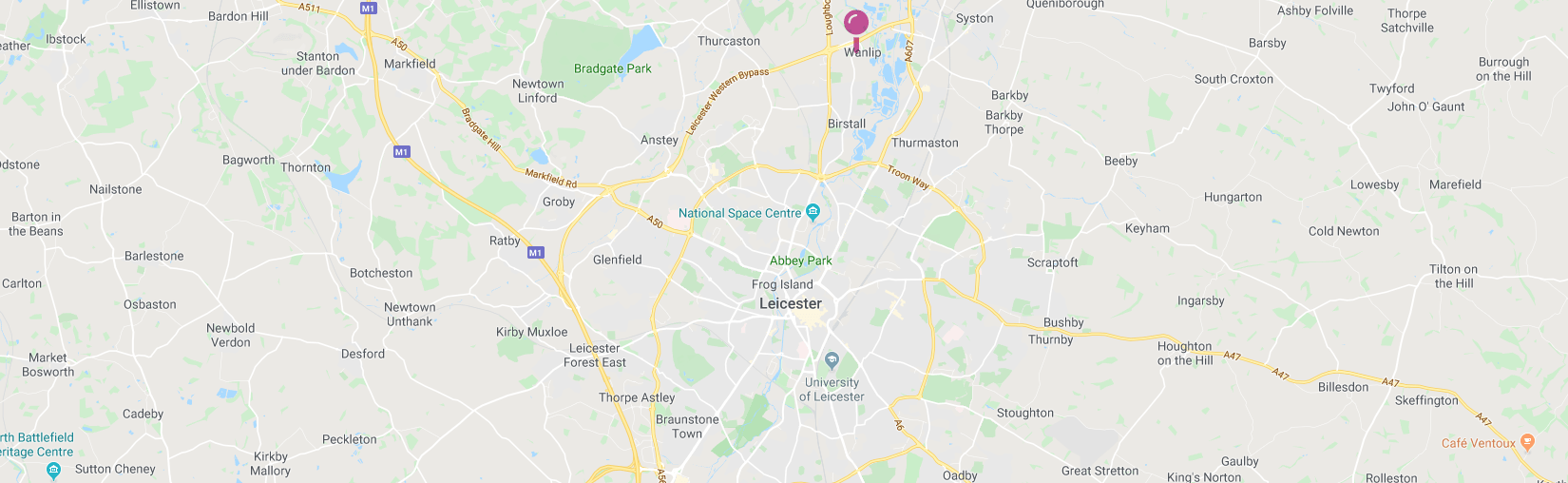 Map of Leicester